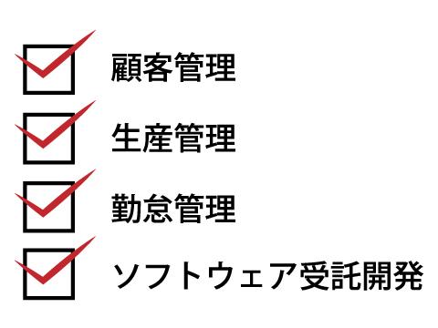 生産管理システムに対応する株式会社坂本レゾナンスの顧客管理・生産管理・勤怠管理・ソフトウェア受託開発チェックリスト